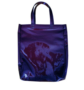Синяя кожаная сумка